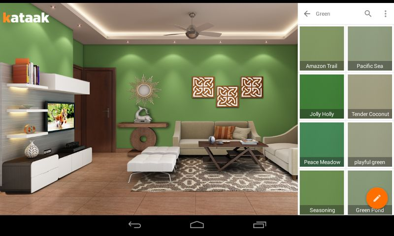 Living Room Design On App